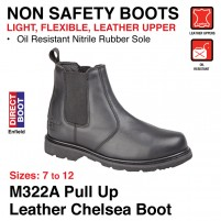 Grafter Pull Up Leather Chelsea Boot - M322